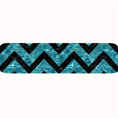 Chevron9 Black Marble & Blue Green Water (r) Large Bar Mat by trendistuff