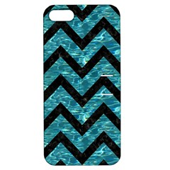 Chevron9 Black Marble & Blue Green Water (r) Apple Iphone 5 Hardshell Case With Stand by trendistuff