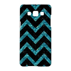 Chevron9 Black Marble & Blue Green Water Samsung Galaxy A5 Hardshell Case  by trendistuff