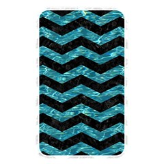 Chevron3 Black Marble & Blue Green Water Memory Card Reader (rectangular) by trendistuff