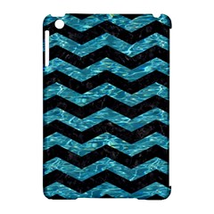 Chevron3 Black Marble & Blue Green Water Apple Ipad Mini Hardshell Case (compatible With Smart Cover) by trendistuff
