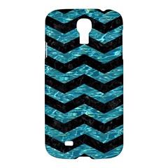 Chevron3 Black Marble & Blue Green Water Samsung Galaxy S4 I9500/i9505 Hardshell Case by trendistuff