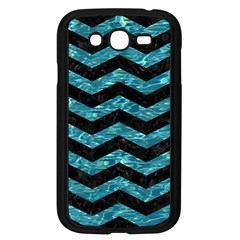 Chevron3 Black Marble & Blue Green Water Samsung Galaxy Grand Duos I9082 Case (black) by trendistuff
