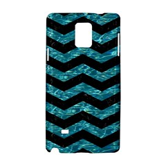Chevron3 Black Marble & Blue Green Water Samsung Galaxy Note 4 Hardshell Case by trendistuff