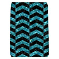 Chevron2 Black Marble & Blue Green Water Removable Flap Cover (l) by trendistuff