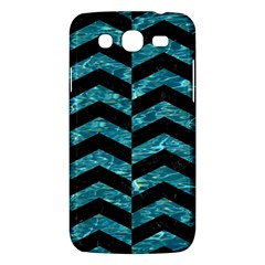 Chevron2 Black Marble & Blue Green Water Samsung Galaxy Mega 5 8 I9152 Hardshell Case  by trendistuff