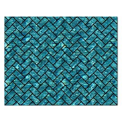 Brick2 Black Marble & Blue Green Water (r) Jigsaw Puzzle (rectangular) by trendistuff