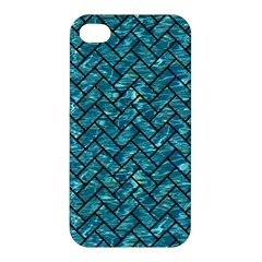Brick2 Black Marble & Blue Green Water (r) Apple Iphone 4/4s Hardshell Case by trendistuff