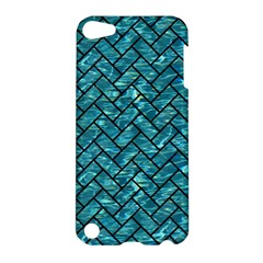 Brick2 Black Marble & Blue Green Water (r) Apple Ipod Touch 5 Hardshell Case by trendistuff
