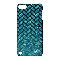 Brick2 Black Marble & Blue Green Water (r) Apple Ipod Touch 5 Hardshell Case With Stand by trendistuff