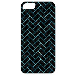Brick2 Black Marble & Blue Green Water Apple Iphone 5 Classic Hardshell Case by trendistuff