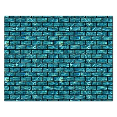 Brick1 Black Marble & Blue Green Water (r) Jigsaw Puzzle (rectangular) by trendistuff