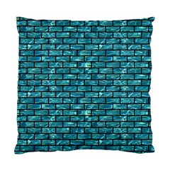 Brick1 Black Marble & Blue Green Water (r) Standard Cushion Case (two Sides) by trendistuff