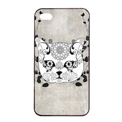 Wonderful Sugar Cat Skull Apple Iphone 4/4s Seamless Case (black) by FantasyWorld7