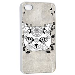 Wonderful Sugar Cat Skull Apple Iphone 4/4s Seamless Case (white) by FantasyWorld7