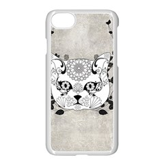Wonderful Sugar Cat Skull Apple Iphone 7 Seamless Case (white) by FantasyWorld7