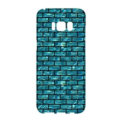 Brick1 Black Marble & Blue Green Water (r) Samsung Galaxy S8 Hardshell Case  by trendistuff