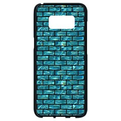 Brick1 Black Marble & Blue Green Water (r) Samsung Galaxy S8 Black Seamless Case