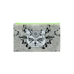 Wonderful Sugar Cat Skull Cosmetic Bag (xs) by FantasyWorld7