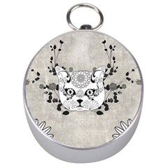 Wonderful Sugar Cat Skull Silver Compasses by FantasyWorld7