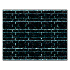 Brick1 Black Marble & Blue Green Water Jigsaw Puzzle (rectangular) by trendistuff