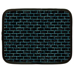 Brick1 Black Marble & Blue Green Water Netbook Case (xxl) by trendistuff