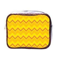 Zigzag (orange And Yellow) Mini Toiletries Bags by berwies