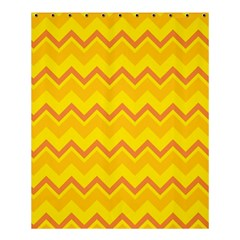 Zigzag (orange And Yellow) Shower Curtain 60  X 72  (medium)  by berwies
