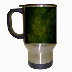 Beautiful Fractal Pines In The Misty Spring Night Travel Mugs (white) by jayaprime