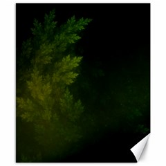 Beautiful Fractal Pines In The Misty Spring Night Canvas 8  X 10  by jayaprime