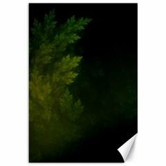 Beautiful Fractal Pines In The Misty Spring Night Canvas 12  X 18   by jayaprime
