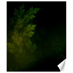 Beautiful Fractal Pines In The Misty Spring Night Canvas 20  X 24   by jayaprime