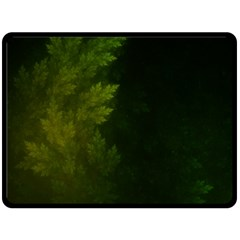 Beautiful Fractal Pines In The Misty Spring Night Fleece Blanket (large)  by jayaprime