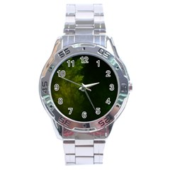 Beautiful Fractal Pines In The Misty Spring Night Stainless Steel Analogue Watch by jayaprime