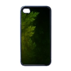Beautiful Fractal Pines In The Misty Spring Night Apple Iphone 4 Case (black) by jayaprime