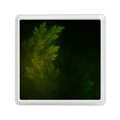 Beautiful Fractal Pines In The Misty Spring Night Memory Card Reader (square)  by jayaprime