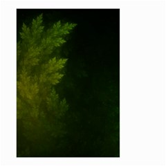 Beautiful Fractal Pines In The Misty Spring Night Small Garden Flag (two Sides) by jayaprime