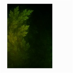 Beautiful Fractal Pines In The Misty Spring Night Large Garden Flag (two Sides) by jayaprime