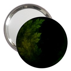 Beautiful Fractal Pines In The Misty Spring Night 3  Handbag Mirrors by jayaprime