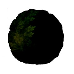 Beautiful Fractal Pines In The Misty Spring Night Standard 15  Premium Round Cushions by jayaprime