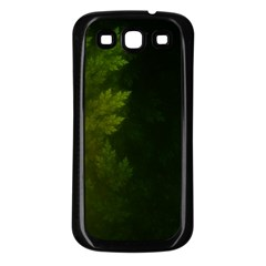 Beautiful Fractal Pines In The Misty Spring Night Samsung Galaxy S3 Back Case (black) by jayaprime