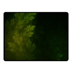 Beautiful Fractal Pines In The Misty Spring Night Double Sided Fleece Blanket (small)  by jayaprime