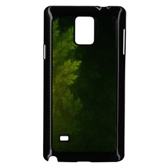 Beautiful Fractal Pines In The Misty Spring Night Samsung Galaxy Note 4 Case (black) by jayaprime