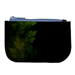 Beautiful Fractal Pines In The Misty Spring Night Large Coin Purse