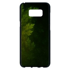 Beautiful Fractal Pines In The Misty Spring Night Samsung Galaxy S8 Plus Black Seamless Case by jayaprime