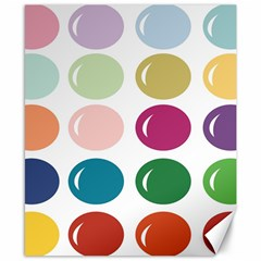 Brights Pastels Bubble Balloon Color Rainbow Canvas 8  X 10  by Mariart