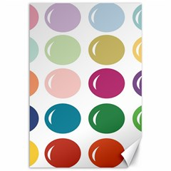 Brights Pastels Bubble Balloon Color Rainbow Canvas 12  X 18   by Mariart