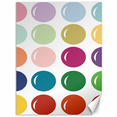 Brights Pastels Bubble Balloon Color Rainbow Canvas 36  X 48   by Mariart