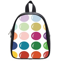 Brights Pastels Bubble Balloon Color Rainbow School Bags (small)  by Mariart