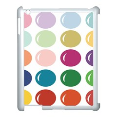 Brights Pastels Bubble Balloon Color Rainbow Apple Ipad 3/4 Case (white) by Mariart